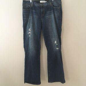 Torrid distressed medium wash jeans size 20